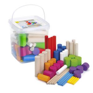 Výučbová hra kocky na stavanie